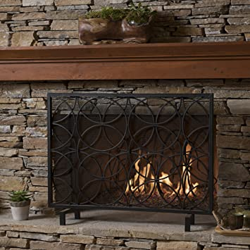 Buy Veritas Single Panel Black Iron Fireplace Screen: Fireplace Screens - Amazon.com ? FREE DELIVERY possible on eligible purchases