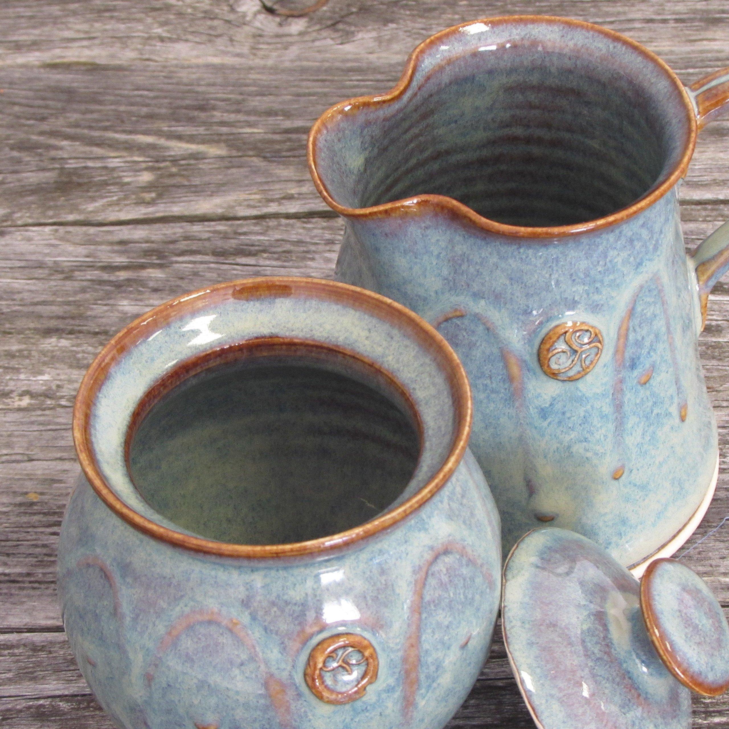 Handmade Irish Pottery Sugar and Creamer Set by Castle Arch Pottery Ireland (Image #4)