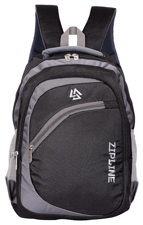 933c75e90f ZIPLINE Unisex Casual Polyester 38 L Backpack School Bag Women Men Boys  Girls Children Daypack College Bag Weekend Bag (Black): Amazon.in: Bags, ...