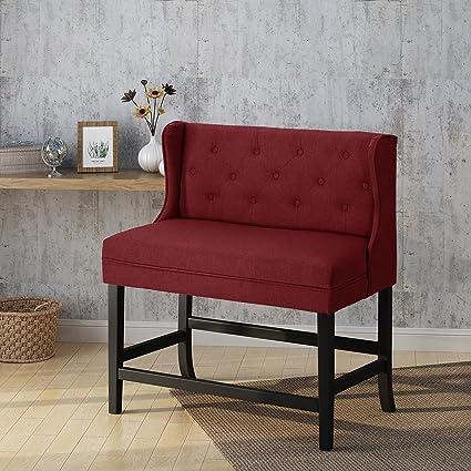 Amazoncom Laraine Winged Tufted Fabric 2 Seater 28 Inch Barstool
