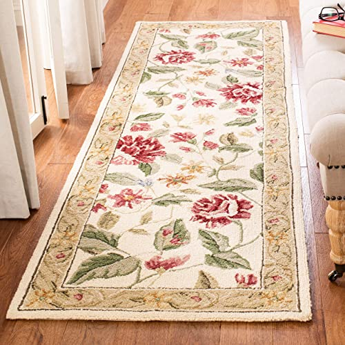 Safavieh Chelsea Collection HK117A Hand-Hooked Ivory and Beige Premium Wool Runner 2 6 x 8