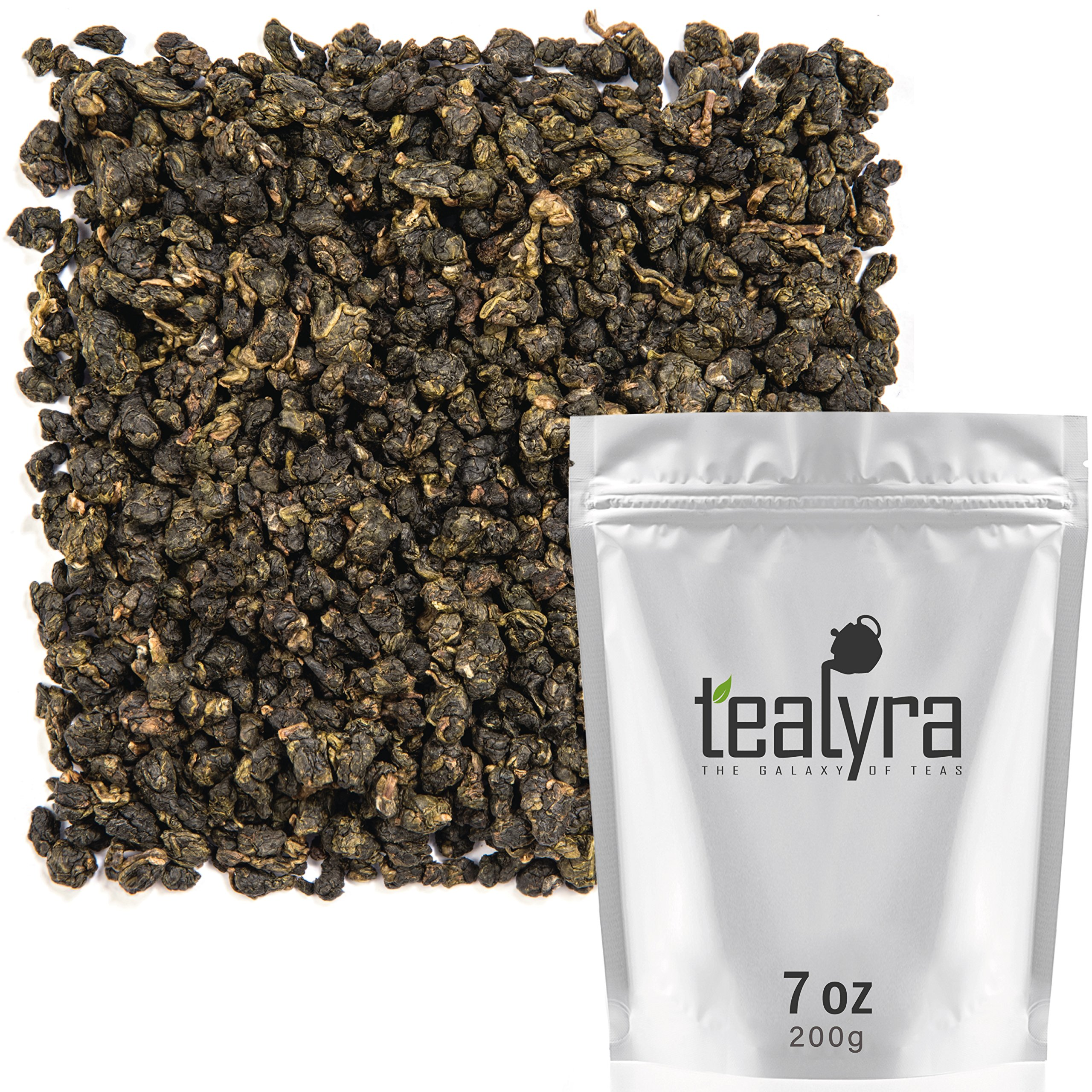 Tealyra - Milk Jin Xuan Oolong - High Mountain Taiwanese Loose Leaf Tea - Great Milky Cream Taste and Aroma - Organically Grown - Weight Loss Tea - 200g (7-ounce) by Tealyra