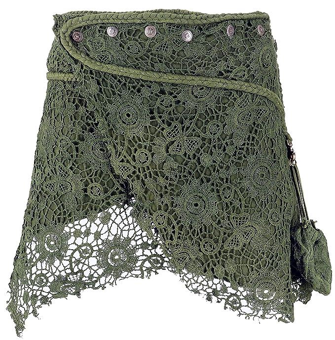 GURU-SHOP, Mini Falda de Goa de Psytrance, Falda del Abrigo, Cacheur
