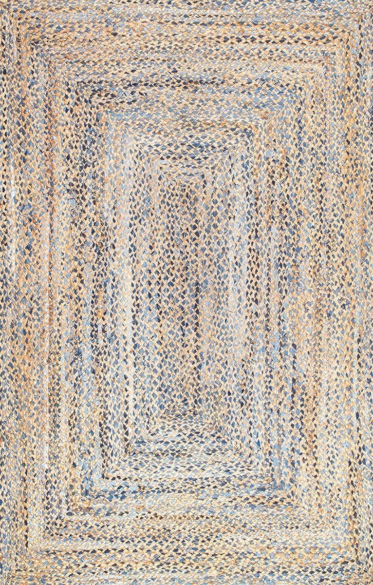 nuLOOM 200MGDR01A-609 Hand Braided Eliz Jute Area Rug, 6 x 9