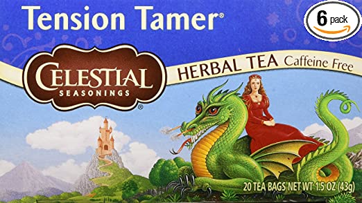 Celestial Seasonings Herbal Tea, Tension Tamer, 20 Count (Pack of 6)