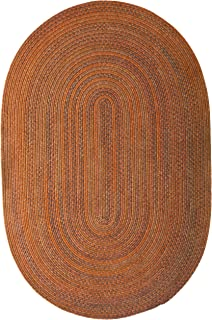 product image for Colonial Mills Rustica Braided Rug, 7 by 9', Audubon Russet