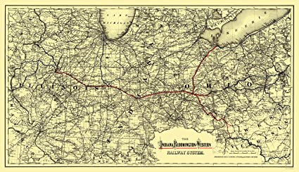 Amazon.com: Old Railroad Map - Indiana, Bloomington and ... on indiana gas line maps, indiana breweries list, indiana industrial map, wayne county michigan zip code map, central of georgia map, indiana railroads 1950s, indiana utilities map, us 40 indiana map, monon indiana map, norfolk & western map, big indiana state map, cleveland rail map, indiana electrical lines, indiana ohio railway company, indiana truck map, indiana outline vector, indiana trains, minnesota commercial railway map, big pine creek indiana map, indiana interurban,