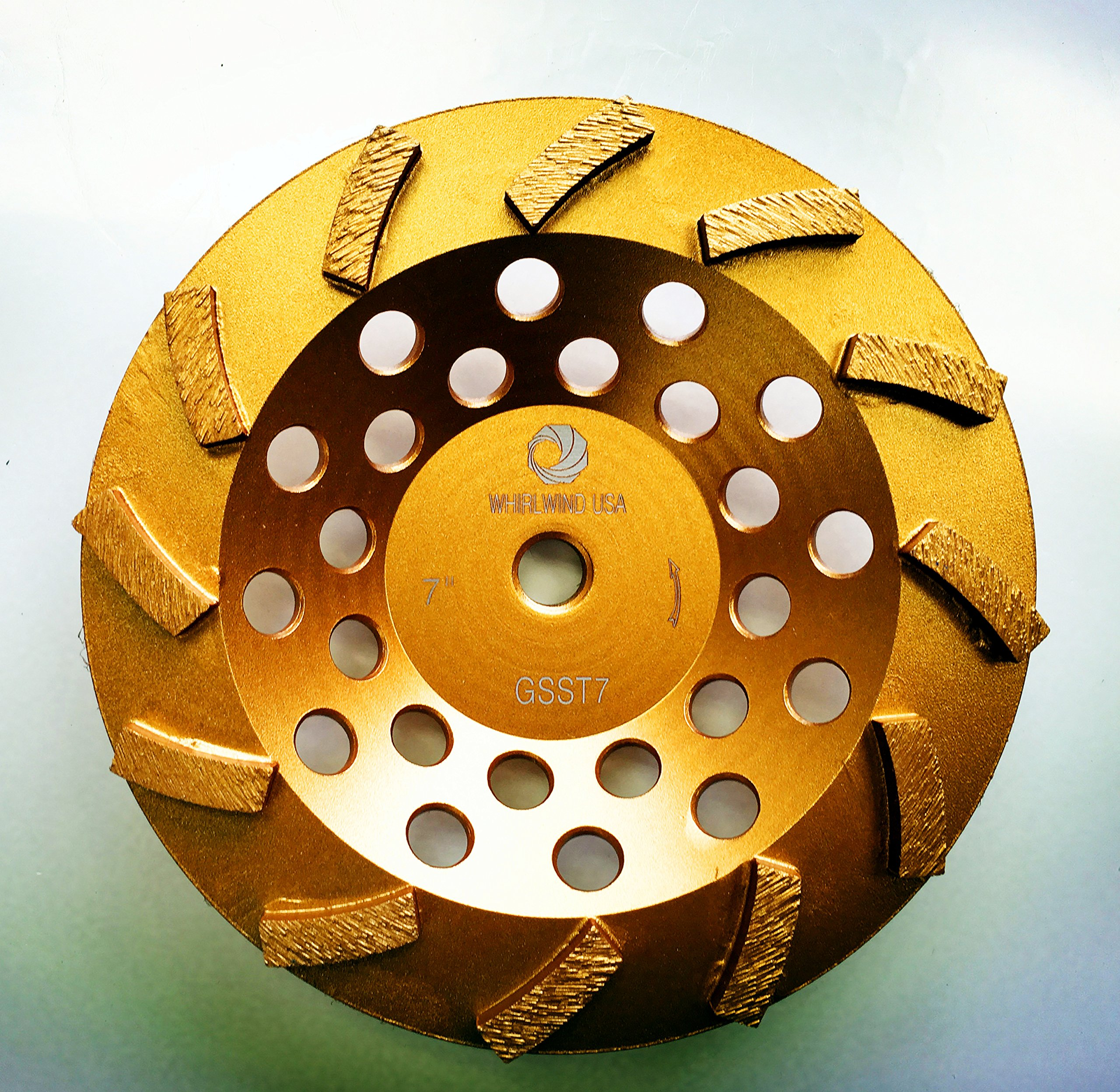 Whirlwind USA GSST 7 in. Heavy Duty Diamond Grinding Cup Wheel Standard Segmented Turbo Cup with 5/8-Inch 11mm Thread (7''-S)