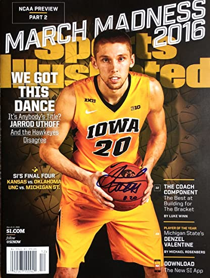 Jarrod Uthoff Iowa Hawkeyes Autographed Sports Illustrated
