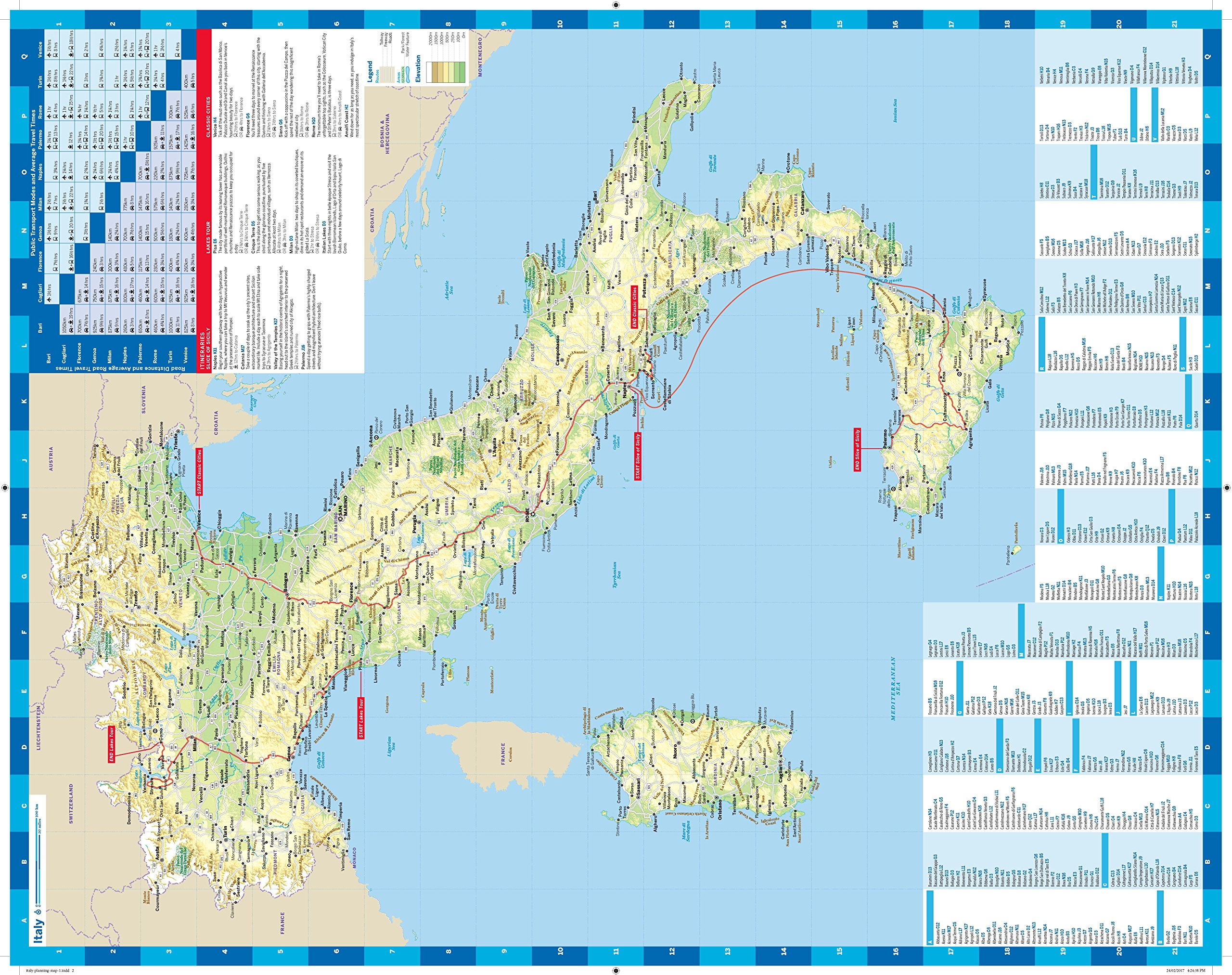 Lonely Planet Italy Planning Map Lonely Planet - Italy map