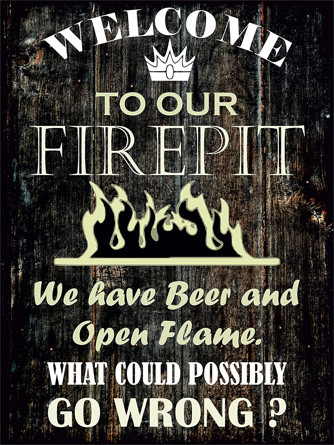 COVERS & ALL Firepit Sign - Welcome to Our FIREPIT Heavy Duty Durable Firepit  Signs, Firepit Welcome Signs Decor for Indoor & Outdoor Use, ... - Amazon.com: COVERS & ALL Firepit Sign - Welcome To Our FIREPIT Heavy