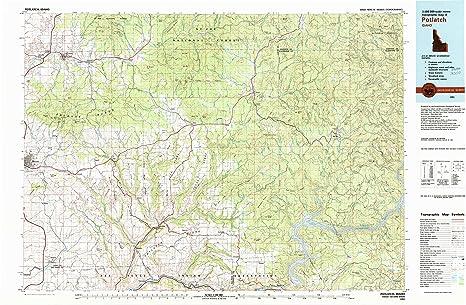Potlatch Idaho Map.Amazon Com Yellowmaps Potlatch Id Topo Map 1 100000 Scale 30 X