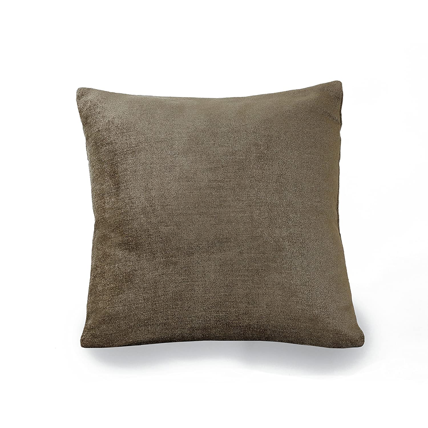 Smoke 18 x 18 Elrene Home Fashions 26865882018 Decorative Solid Velvet Regal Couch//Sofa//Bed Cushion Pillow 18 x 18