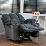 Raymond Steel Grey Fabric Glider Recliner Club Chair & Amazon.com: Metro Shop Riverside Charcoal Recliner-.: Kitchen u0026 Dining islam-shia.org