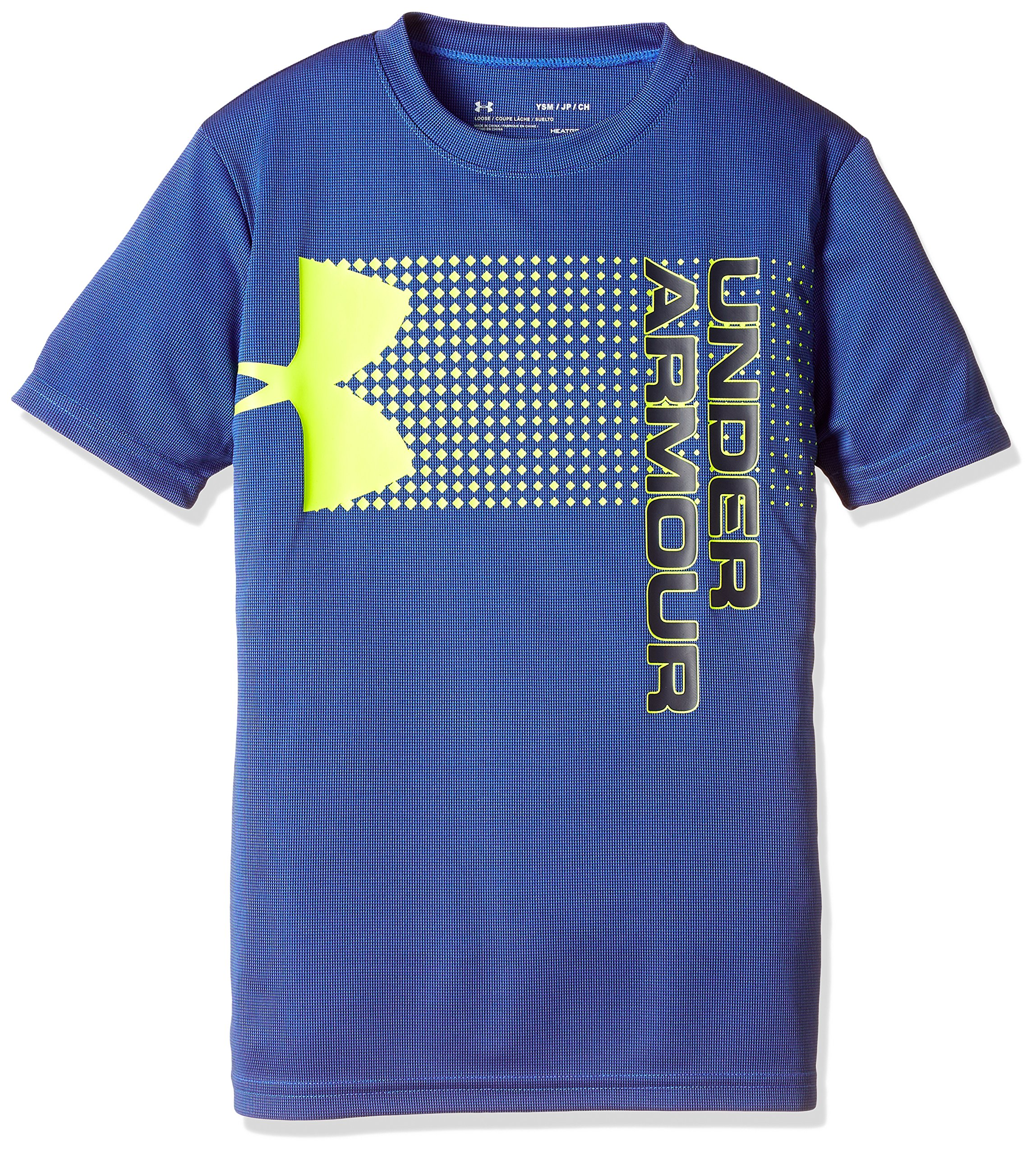 Under Armour Kids Boy's Crossfade Tee (Big Kids) Mediterranean/Mediterranean/High-Visibility Yellow Small by Under Armour (Image #1)