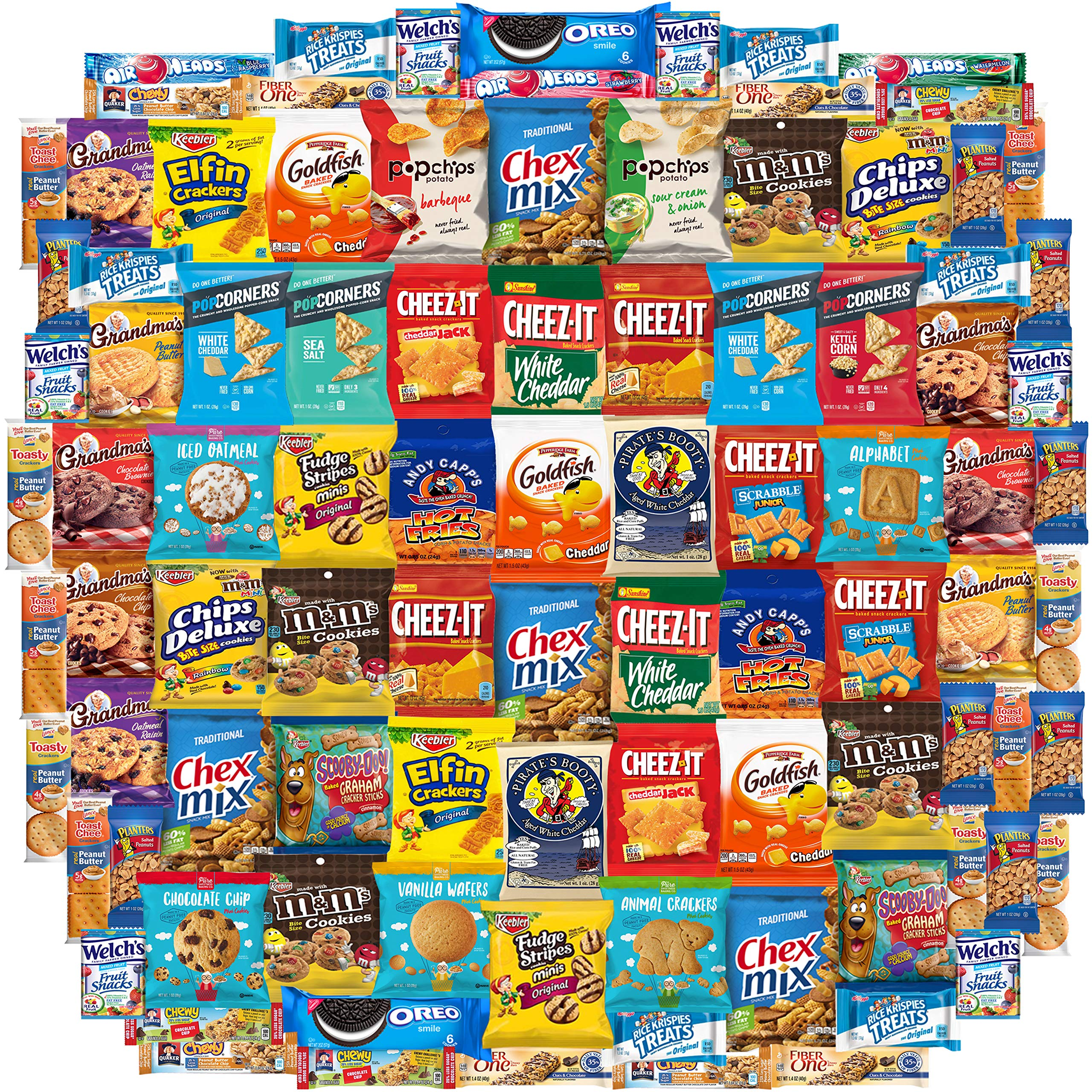 Snack Chest Snacks Care Package Gift Assortment Sampler Mixed Bars, Cookies, Chips, Candy for Office, Military, College, Meetings, Schools, Friends & Family (100 Count) by Snack Chest (Image #1)