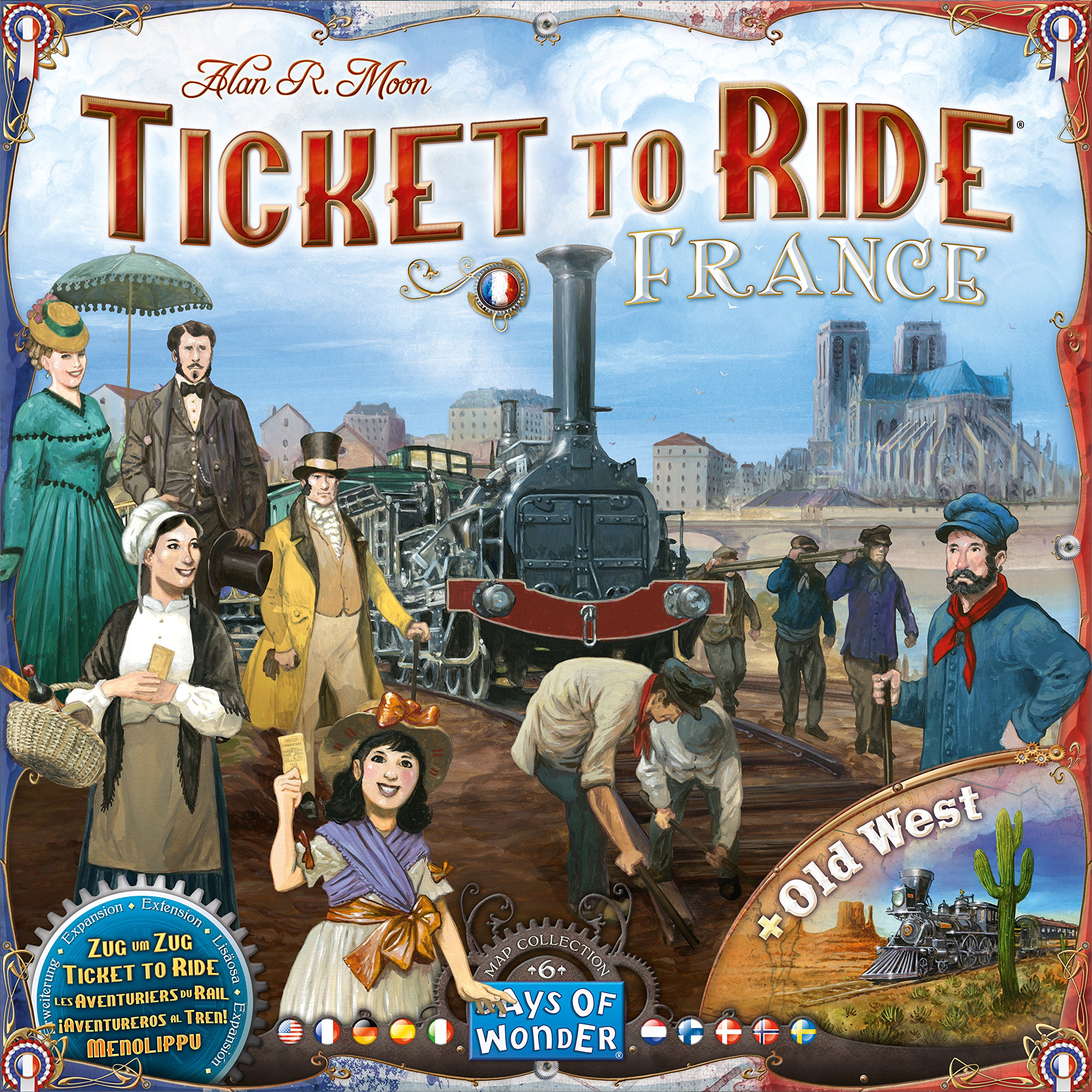 Ticket to Ride: France and Old West Map Collection Six by Days of Wonder (Image #3)