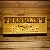 wpa0063 Name Personalized Garage Repair Room Man Cave Den Home Bar Beer Décor 3D Engraved Wooden Sign