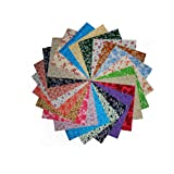 """80 5"""" Antique Calico Reproductions Charms Quilting Squares-20 DIFFERENT -4 OF EACH"""