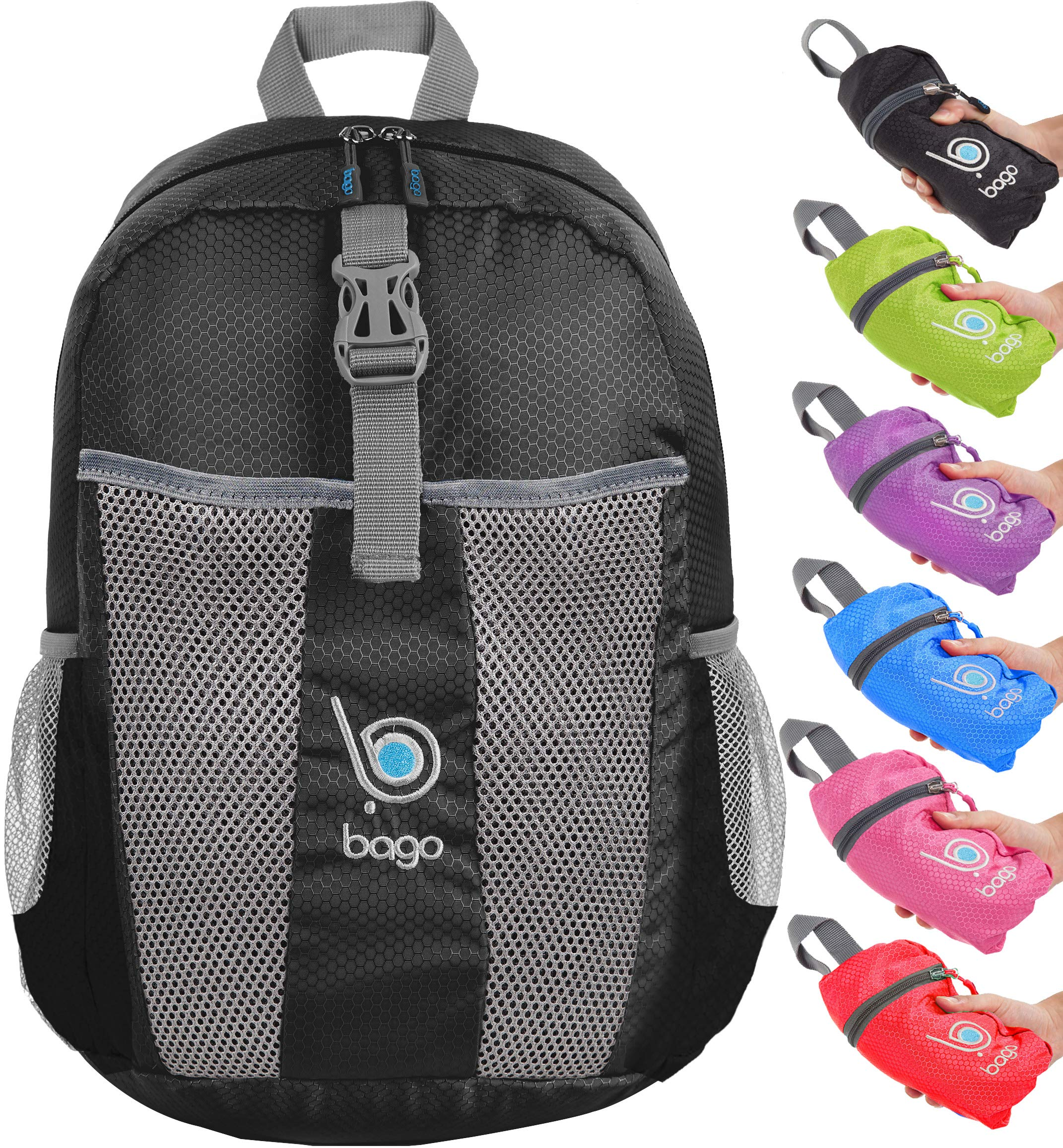 Bago Foldable Rucksack for Women and Men. Lightweight Water Resistant  Packable Backpack, Great Unisex 01cd6ccb01
