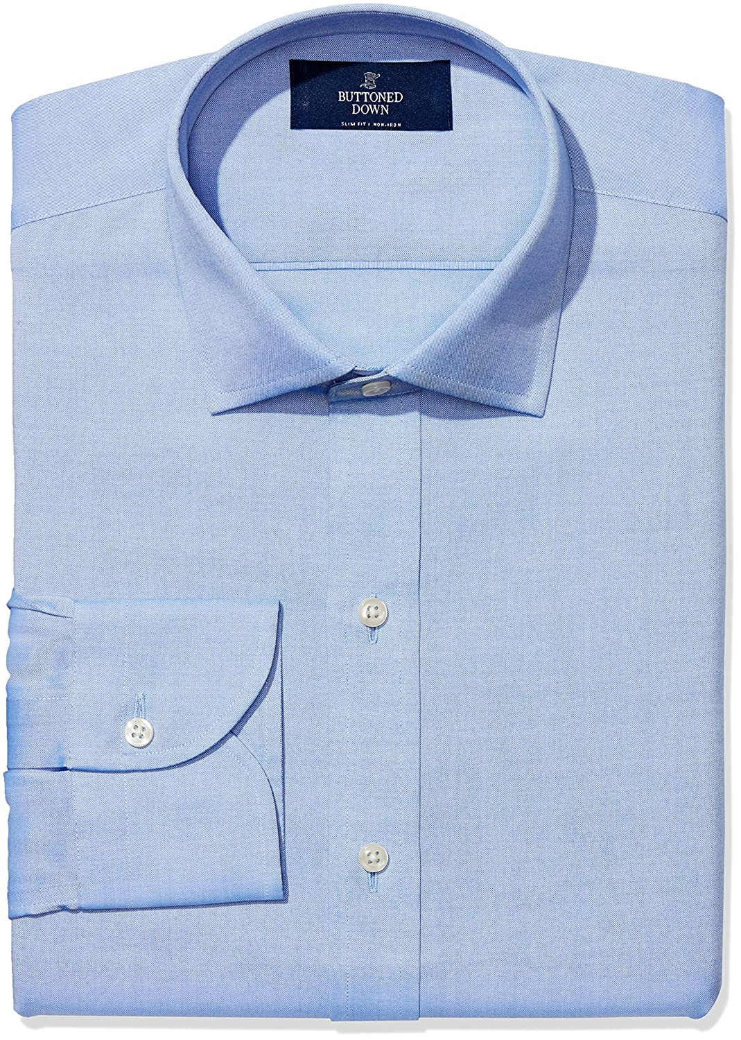 Amazon Buttoned Down Mens Slim Fit Spread Collar Solid