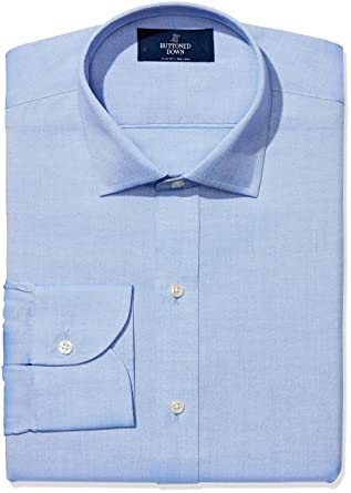 64df233d677 BUTTONED DOWN Men's Slim Fit Spread-Collar Non-Iron Dress Shirt (No Pocket
