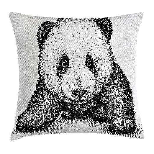 Panda manta almohada Funda de cojín por Ambesonne, bebé ...
