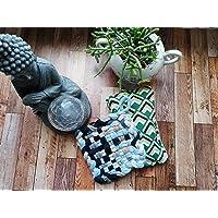 KIT Tawashi+lavette grattante, éponge réutilisable, éponge vaisselle lavable, zéro déchet, ménage