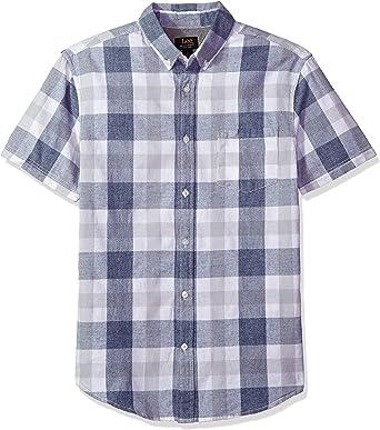 Lee Hombre Manga Corta Camisa de Botones: Amazon.es: Ropa y accesorios