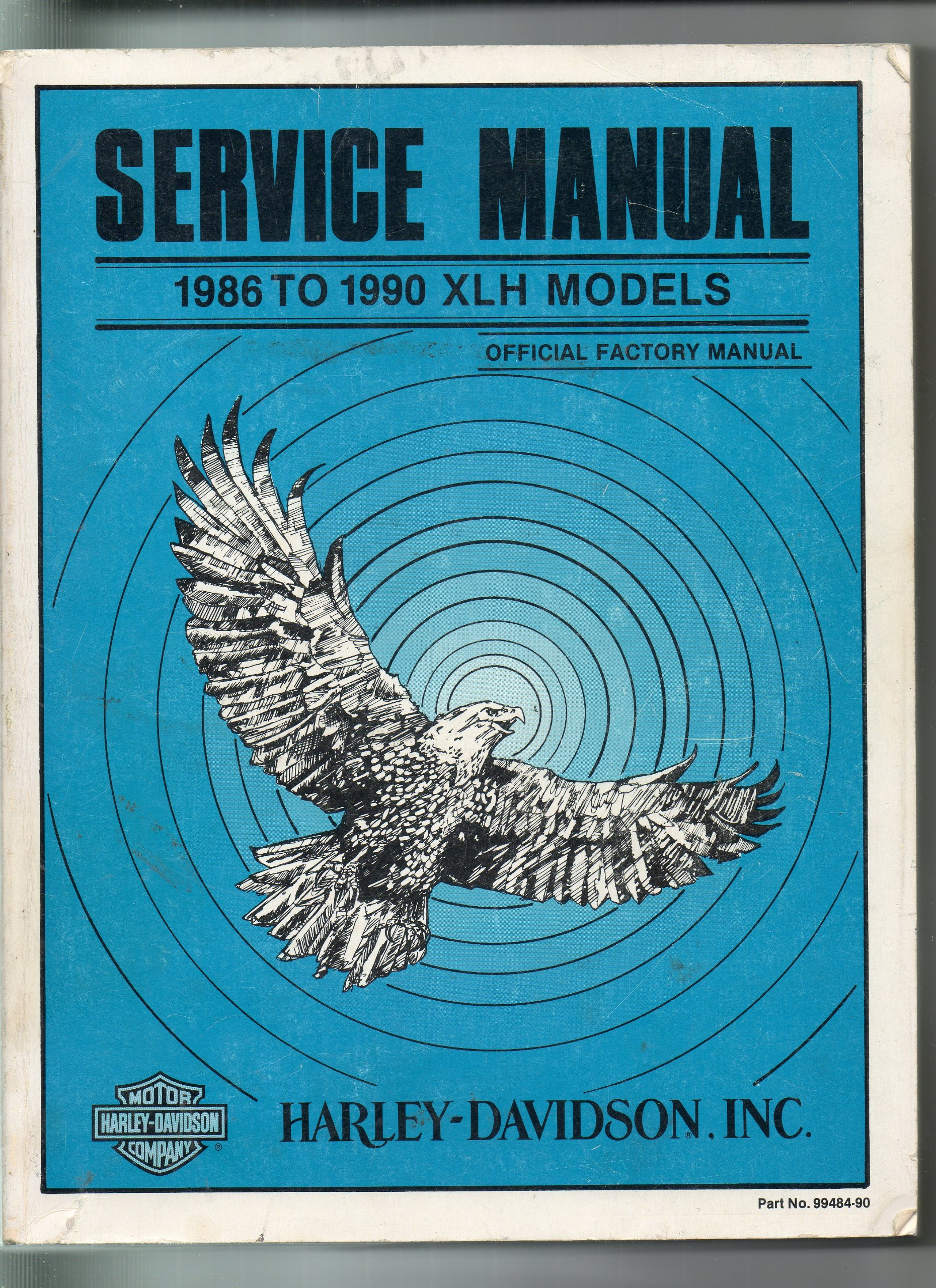 harley davidson service manual 1986 to 1990 xlh models harley rh amazon com 1990 harley davidson sportster service manual 2000 Sportster
