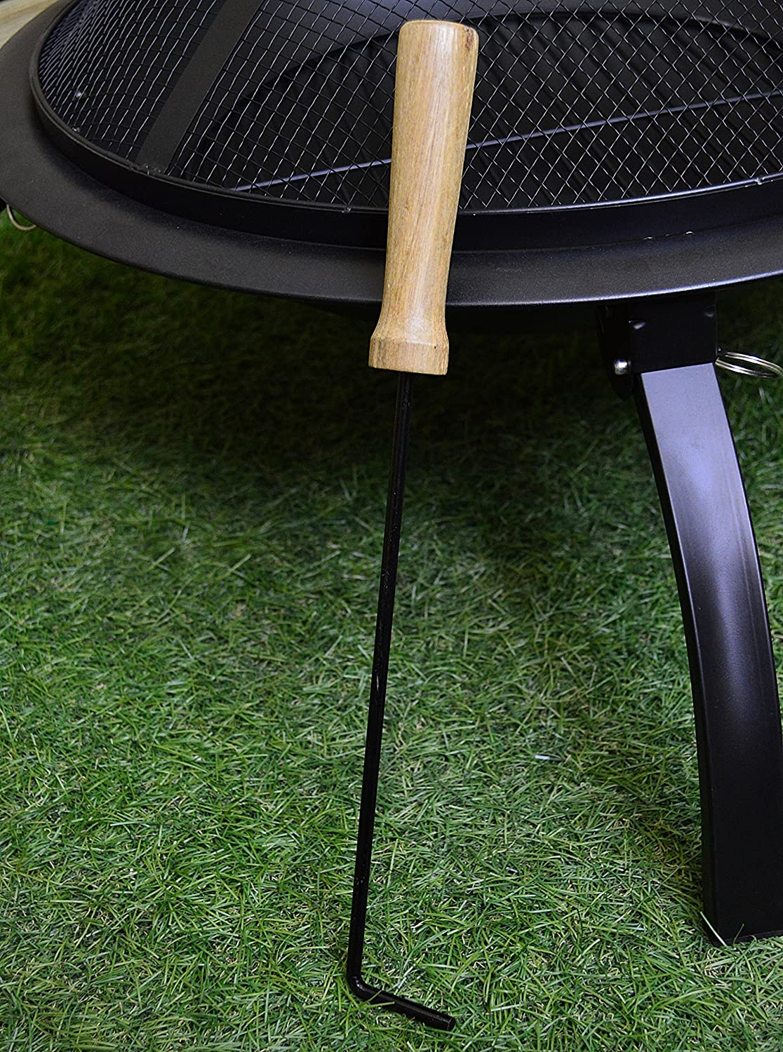 Hamble Redwood BB-CH712 Steel Fire Pit with Grill