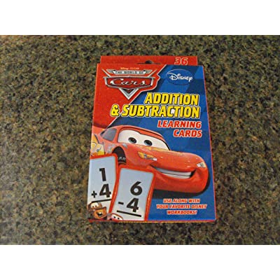 Disney Pixar World of Cars Addition & Subtraction Learning Flash Cards: Toys & Games [5Bkhe0401926]