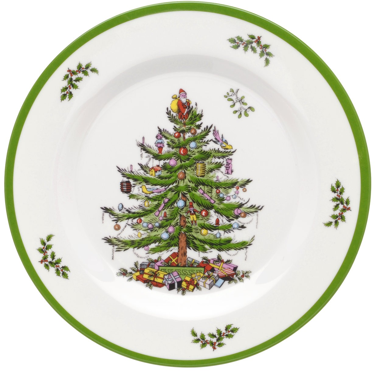 Spode Christmas Tree Melamine Set of 4 Salad Plates - Spode USA
