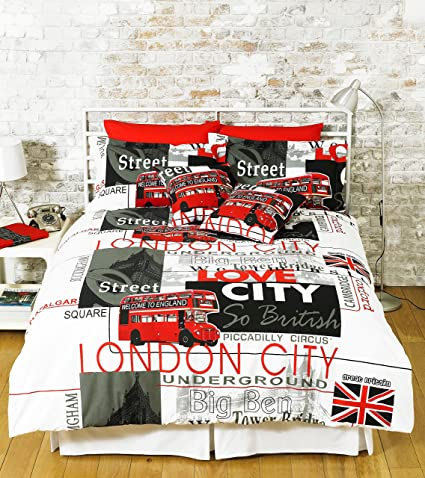 Funda Nordica Underground.Great Knot London Landmark Duvet Cover Set Poly Cotton Easy Care Bed
