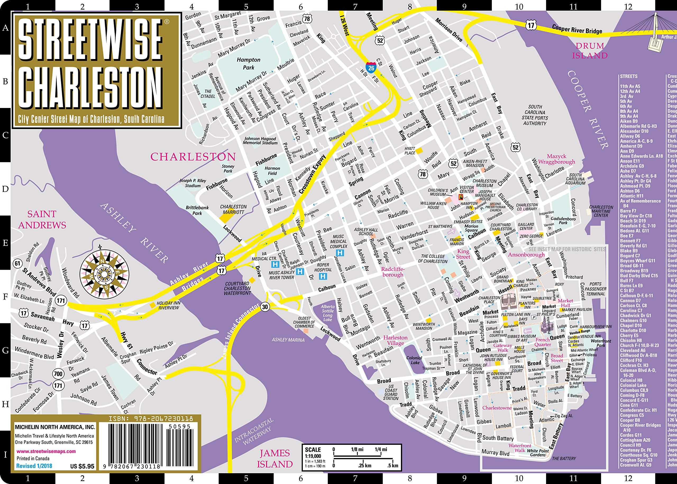 Charleston Historic District Map on