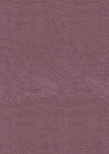 United Weavers of America Aria Shag Area Rug, 5-Feet 3-Inch by 7-Feet 6-Inch, Plum