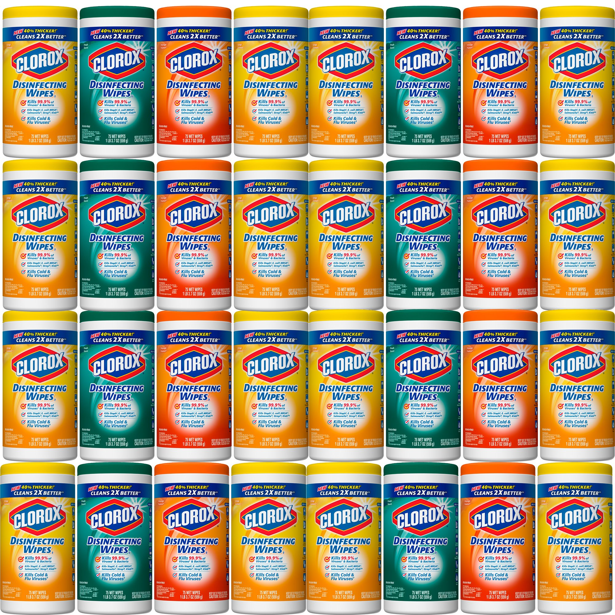Clorox Disinfecting Wipes Value Pack, Citrus Blend, Fresh Scent and Orange Fusion, 8-Pack
