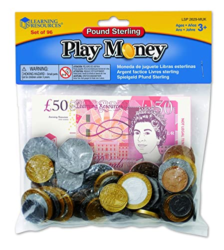 Learning Resources (UK Direct Account) Realistic looking play money notes featuring 2017 designs