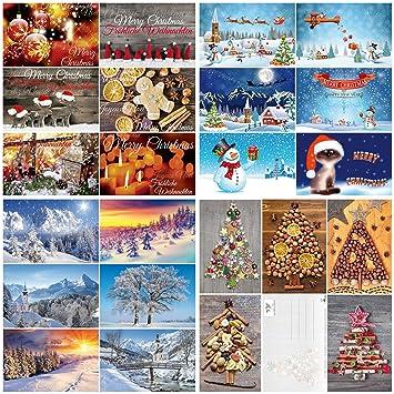 Weihnachtskarten Mit Kugelschreiber.100 Er Weihnachtskarten Box Weihnachten Von Edition Colibri Postkarten Set Mit Einem Bunten Mix An Weihnachtskarten Mit 25 Verschiedenen Motiven á