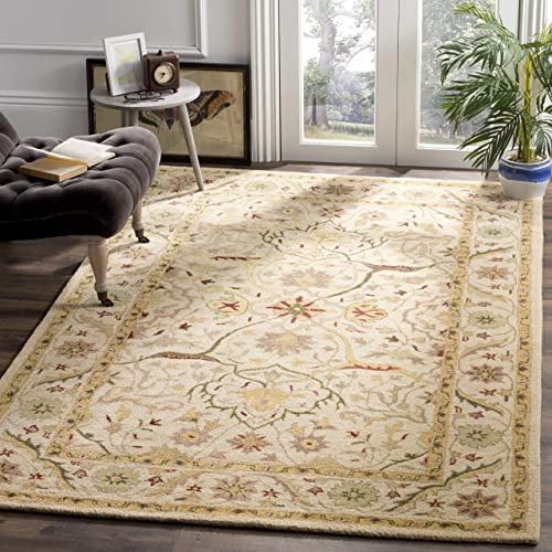 "Safavieh Antiquities Collection AT14A Handmade Traditional Oriental Ivory Wool Area Rug 8'3"" x 11'"