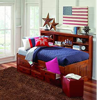 Amazon Com Discovery World Furniture Merlot Bookcase Day Bed Twin