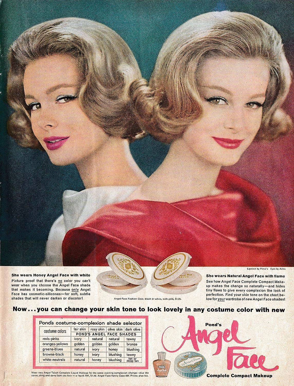 Amazon.com : 1961 Angel Face Compact Makeup-Change Skin Tone-Original 13.5 * 10.5 Magazine Ad : Everything Else