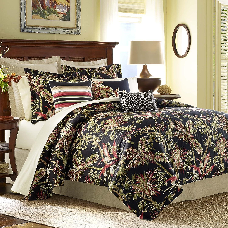 Tommy Bahama Jungle Drive Comforter Set, Queen, Black
