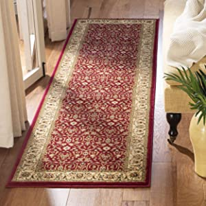"""Safavieh Lyndhurst Collection LNH312A Traditional Oriental Red and Ivory Runner (2'3"""" x 8')"""
