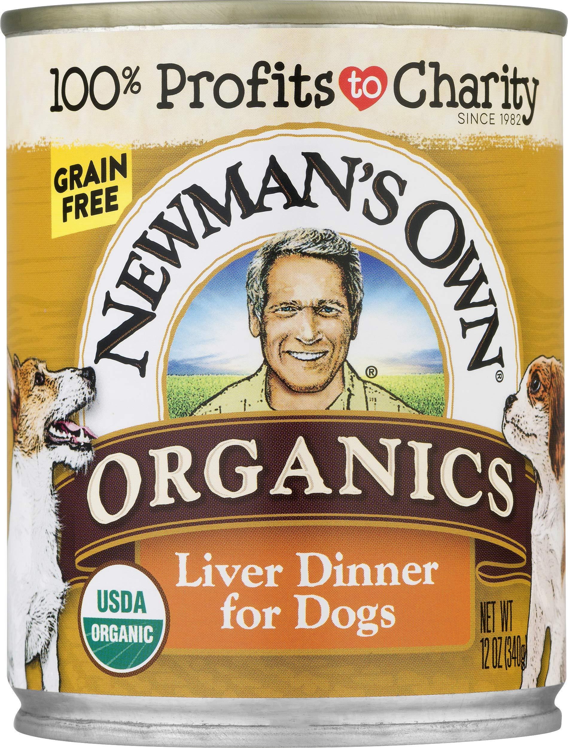 Newman'S Own Organics Liver Dinner For Dogs, 12-Oz (Pack Of 12) by Newman's Own