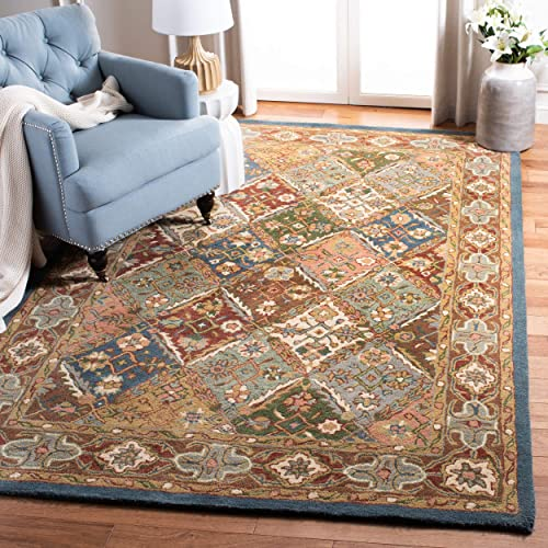Safavieh Heritage Collection HG316B Handcrafted Traditional Oriental Green and Red Wool Area Rug 9 x 12