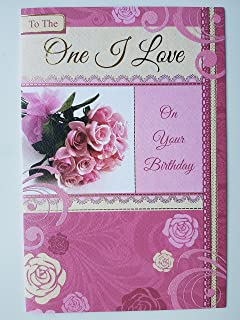One i love birthday card to the one i love happy birthday one i love birthday card bookmarktalkfo Image collections