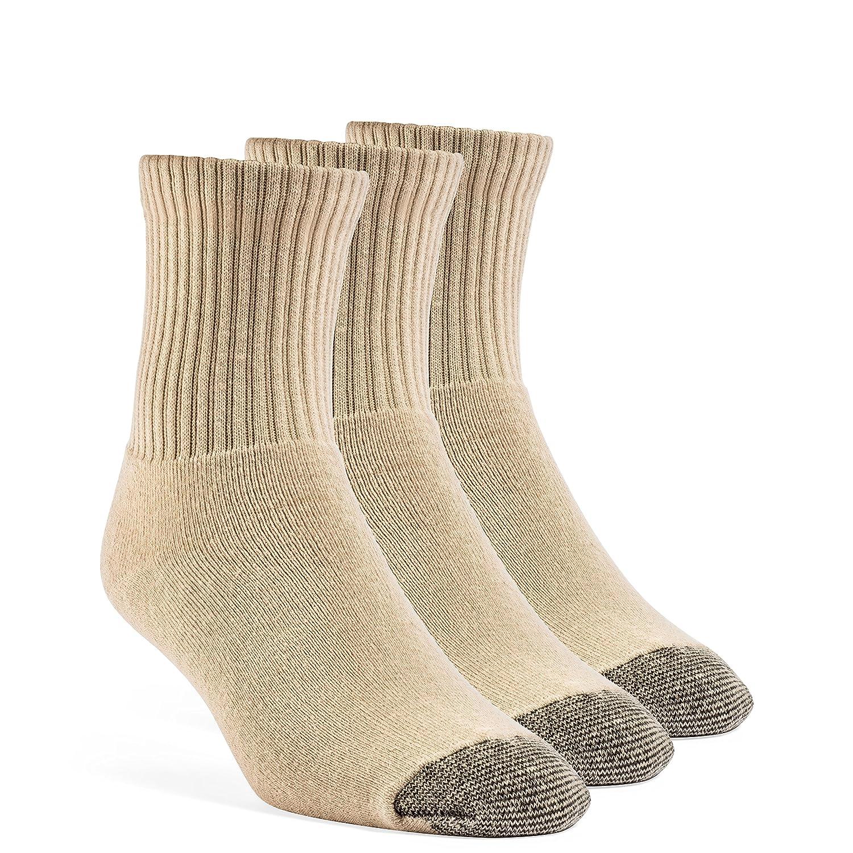 YolBer Mens Cotton Super Soft Quarter Cushion Socks 3 Pairs