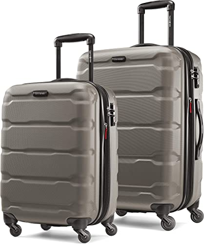 Samsonite Omni PC Hardside Expandable Luggage with Spinner Wheels, Silver, 2-Piece Set 20 24