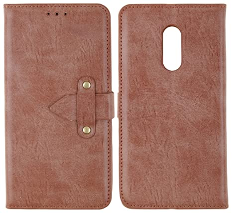 new arrival c89bd 864ca CASSIEY Xiaomi Redmi Note 4 Flip Cover Case : Premium Leather Wallet Stand  Flip Case with Belt Lock (Royal Series - Walnut Brown)